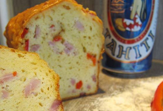 Cake aux poivrons et fromage de brebis Ossau-Iraty