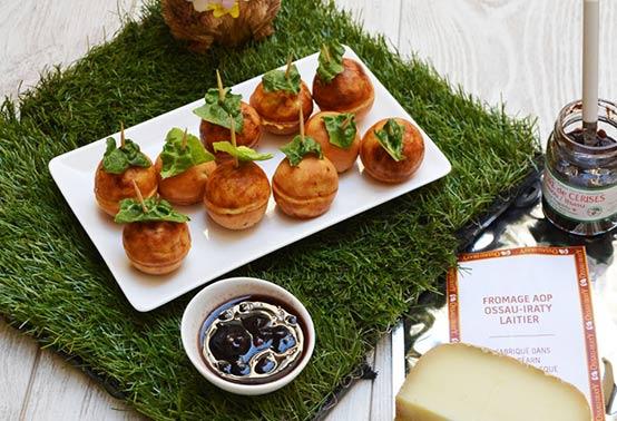Cake pop avec fromage de brebis Ossau-Iraty