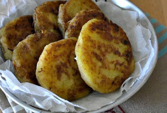 Galettes de pommes de terre et fromage de brebis Ossau Iraty