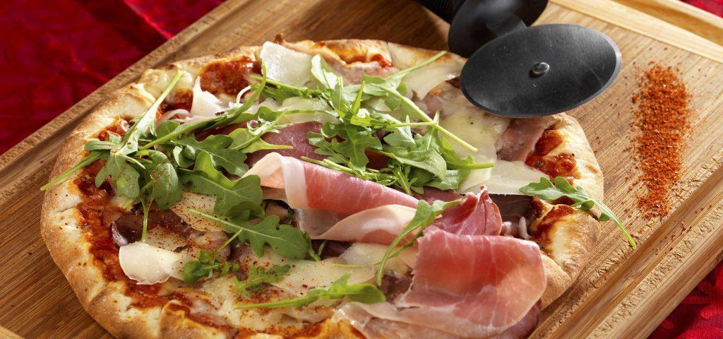 Pizza au jambon de Bayonne et Ossau-Iraty