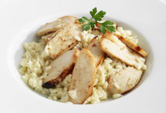 Salade poulette et fromage de brebis Ossau-Iraty