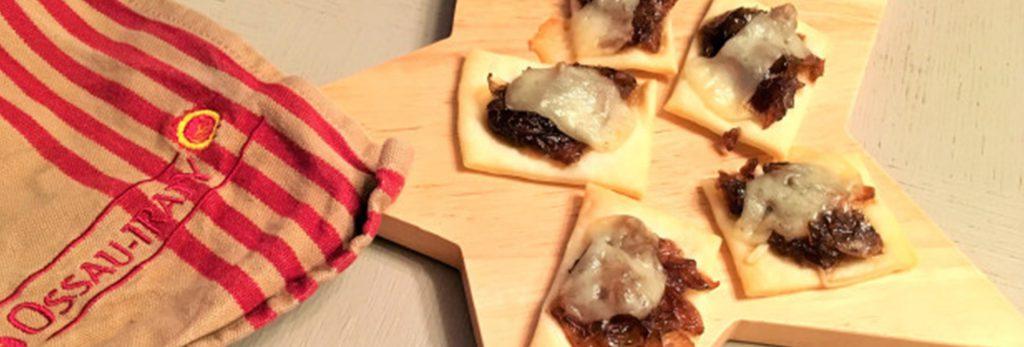 Bouchées d'AOP Ossau-Iraty et compotée d'oignons