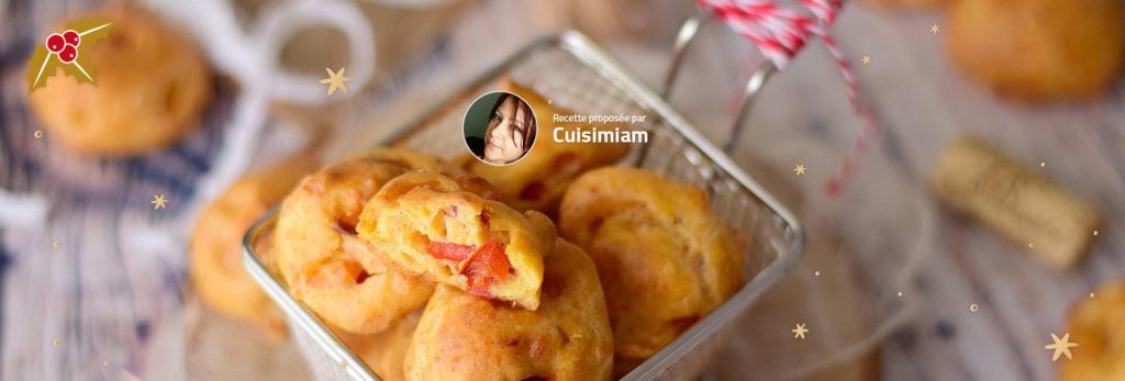 Gougères poivrons, Ossau-Iraty et piment d'Espelette
